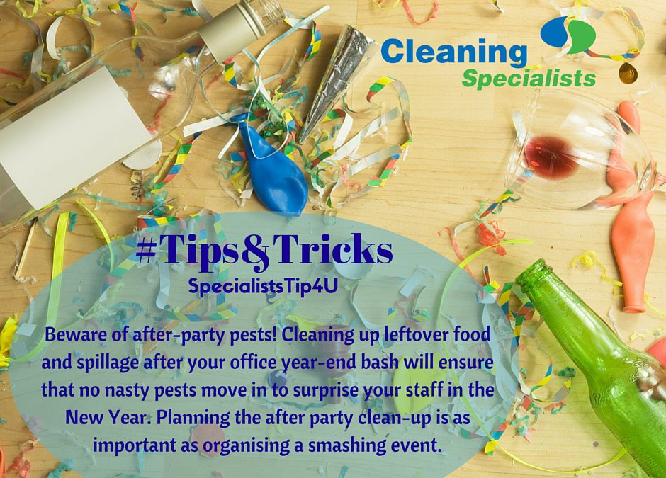 Office cleaning tips for your year-end function